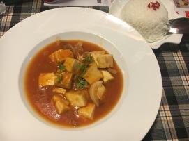 Tofu et champignons à la tomate